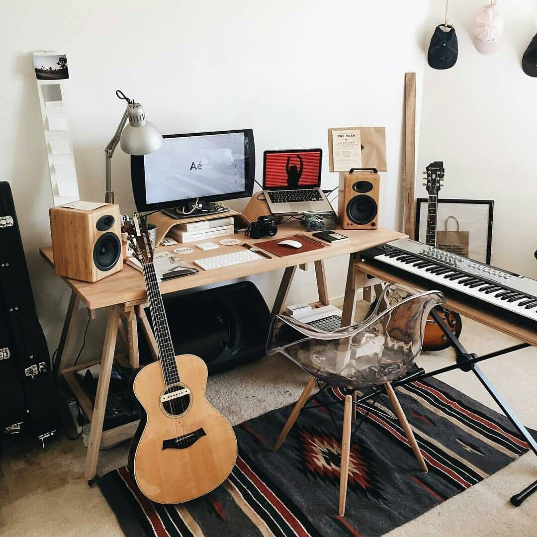 Best Cool Bedroom Studio Workspace Studio Music Bedroom With Pictures