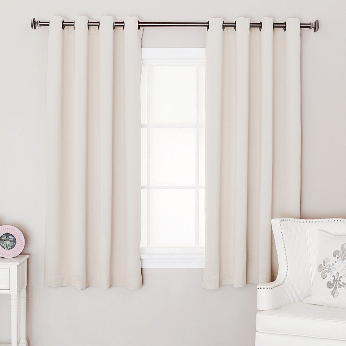 Best Short Curtains Square Bedroom Window Mid Century With Pictures