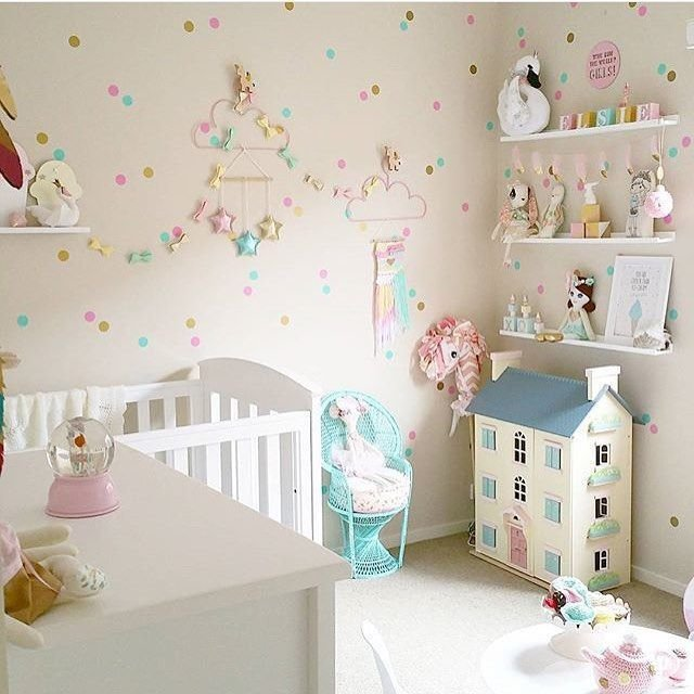 Best The Dotty Wall Fills The Room Baby Room Girls Bedroom With Pictures