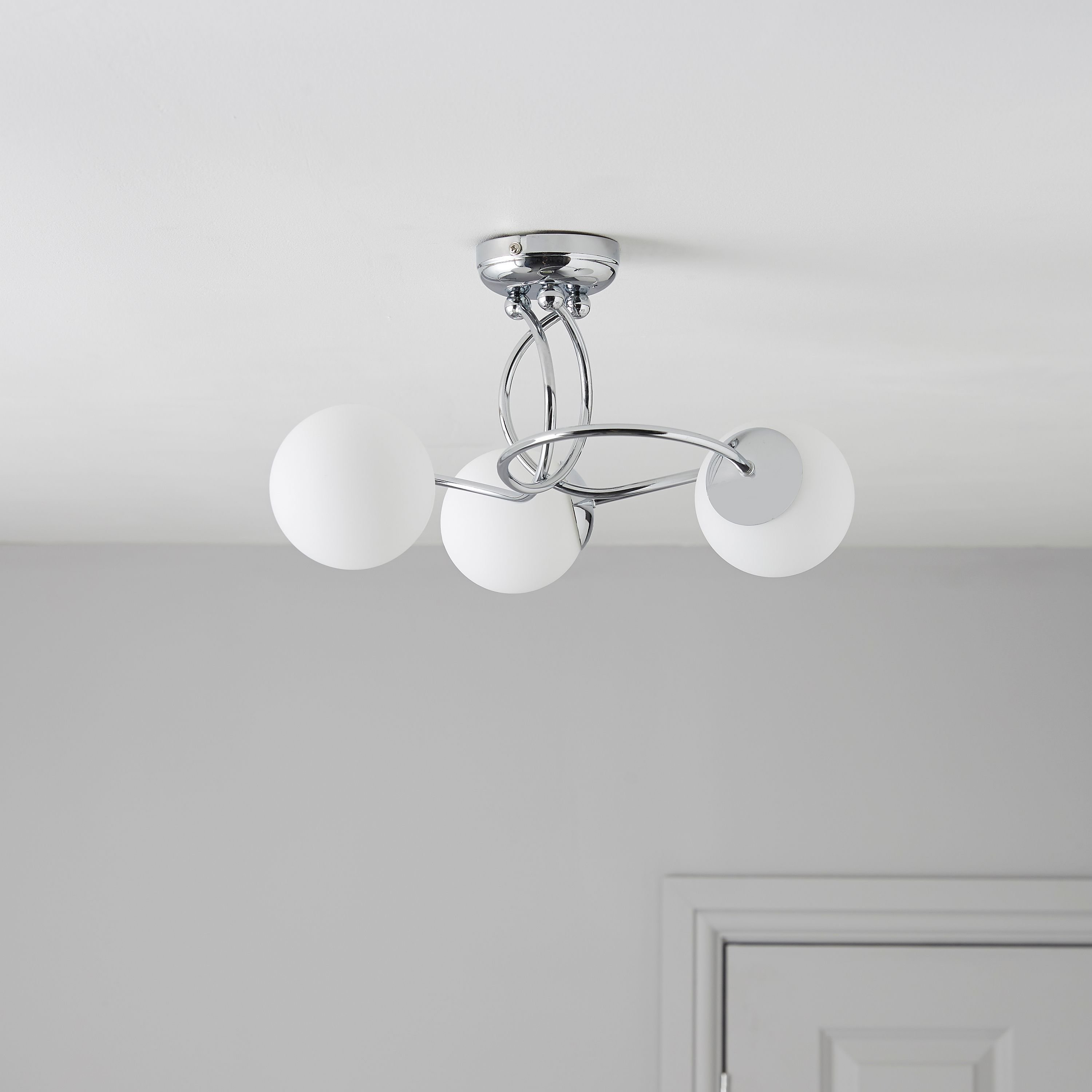 Best Colours Cygnus 3 Semi Flush Ceiling Light Departments With Pictures