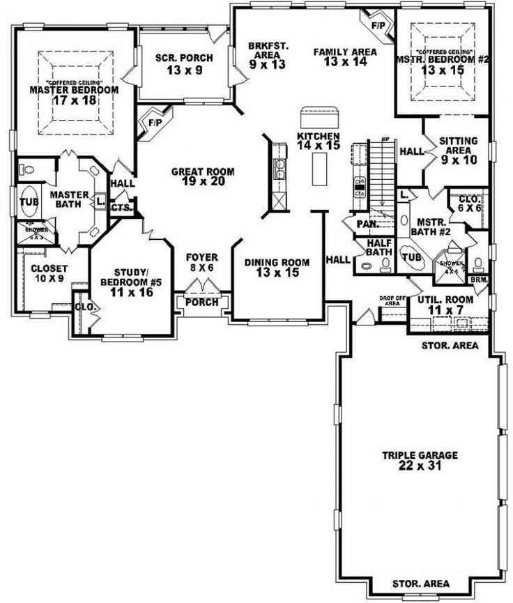 Best 654269 4 Bedroom 3 5 Bath Traditional House Plan With With Pictures