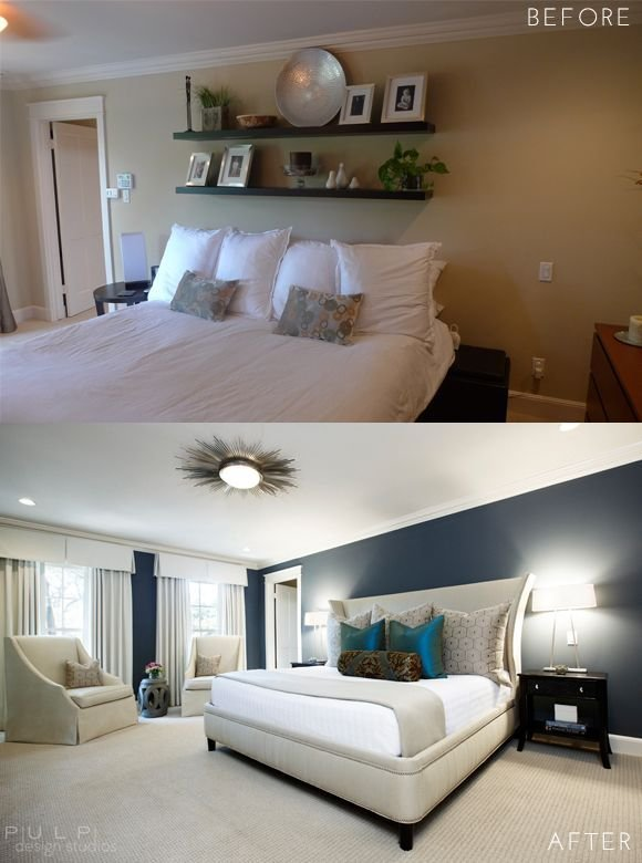 Best Before After Elegant Mod Master Suite Renovation In With Pictures