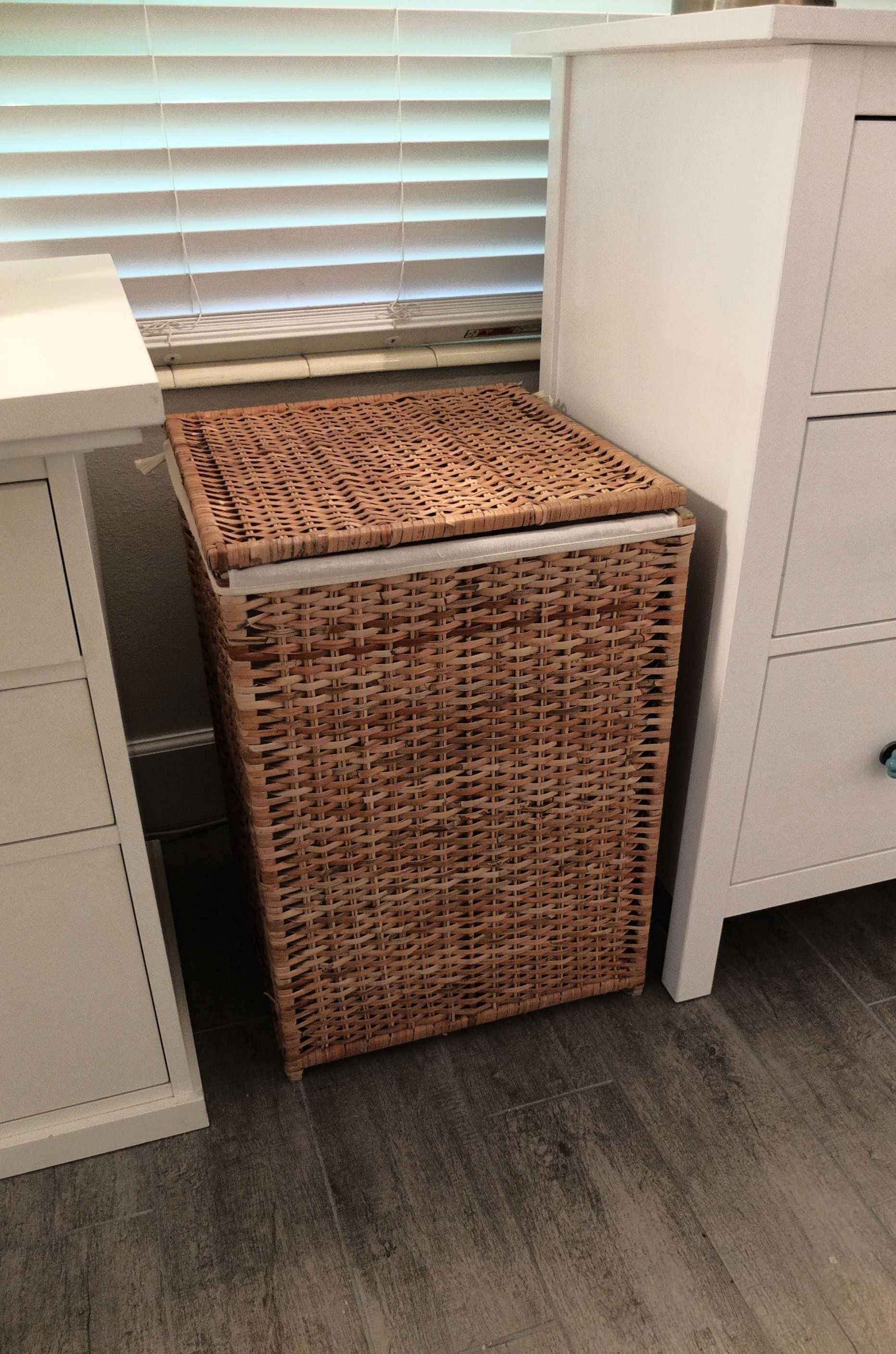 Best Branäs Laundry Basket With Lining Rattan Ikea Home Tour Makeovers Bedroom Hamper Laundry With Pictures