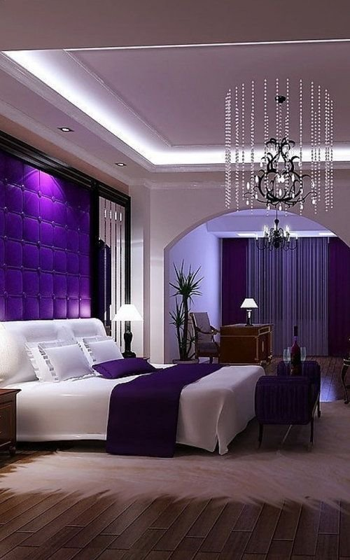 Best Romantic Bedroom Decorating Ideas Purple Master Bedroom With Pictures
