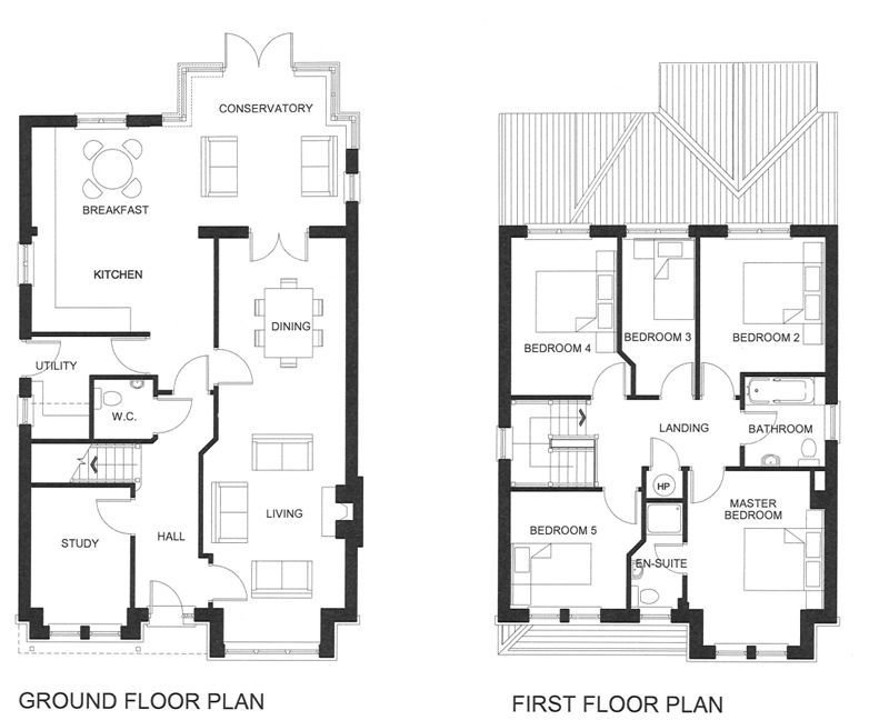 Best Five Bedroom House Plans Two Story Unique House Floor With Pictures