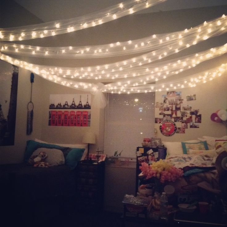 Best 8 Best Images About Christmas Lights Bedroom On Pinterest String Lights Tulle And Bed Sets With Pictures