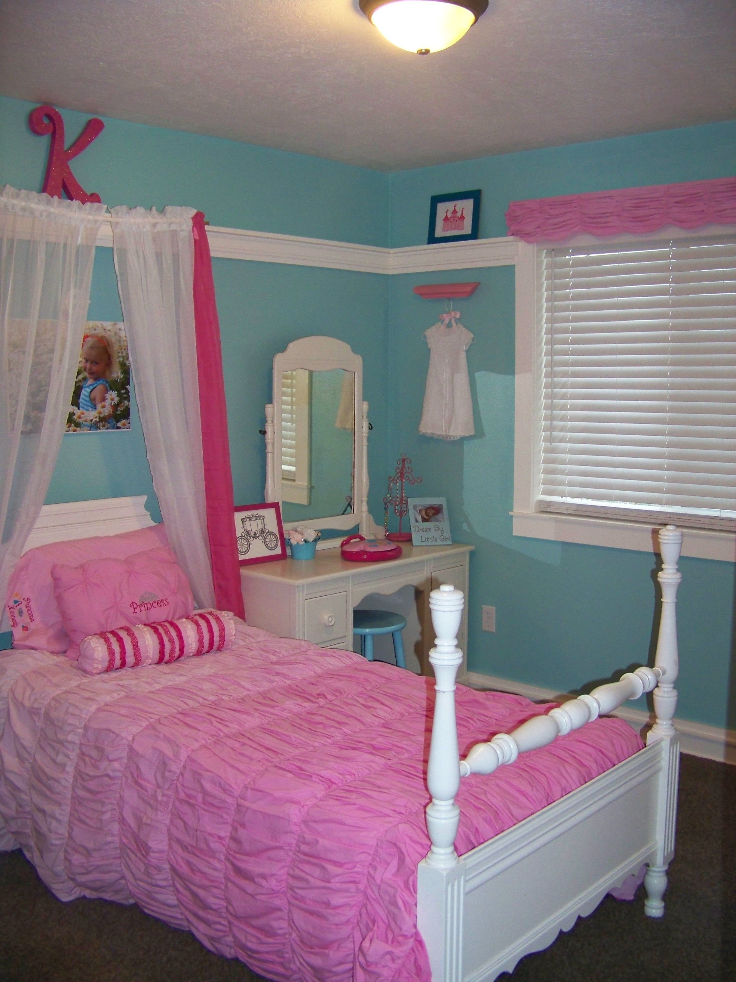 Best Turquoise And Pink Girl Princess Room Kennedy S Room In With Pictures