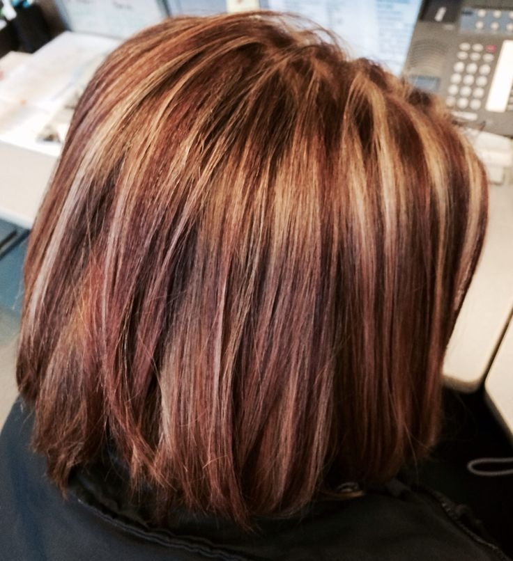 Free Brown Hair With Caramel Highlights And Red Highlights Wallpaper