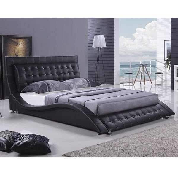 Best Dublin Modern King Size Black Platform Bed Overstock Com With Pictures