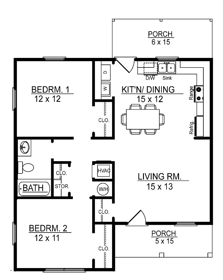 Best Small 2 Bedroom Floor Plans You Can Download Small 2 Bedroom Cabin Floor Plans In Your With Pictures