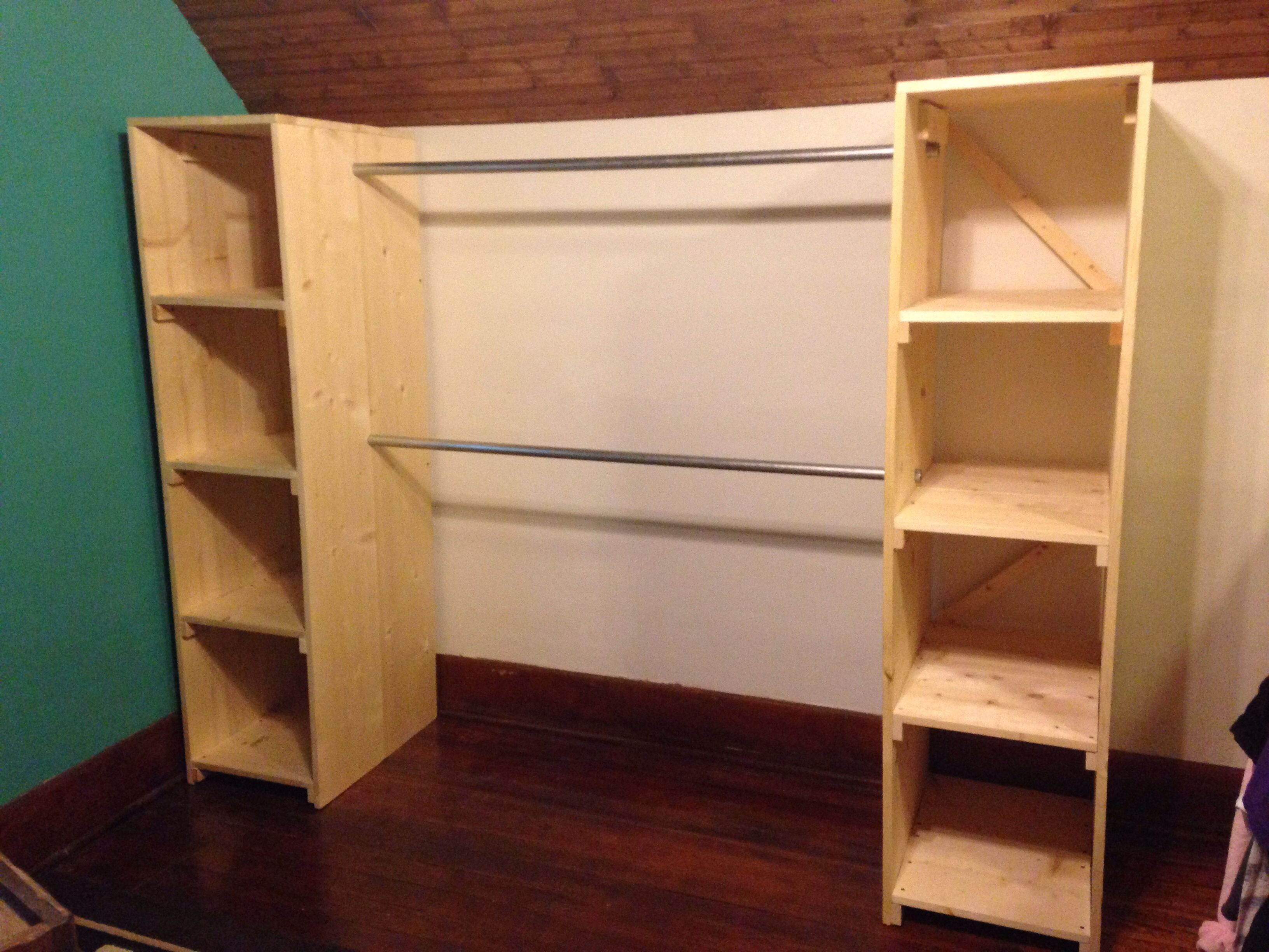 Best My Free Standing Closet Is Finished It S Perfect For Our With Pictures