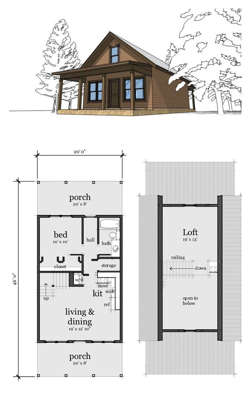 Best Narrow Lot Home Plan 67535 Total Living Area 860 Sq Ft With Pictures