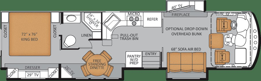Best Pin By Cindy Polley On Rv Bed And Breakfast Rv Floor Plans Class A Rv Floor Plans With Pictures