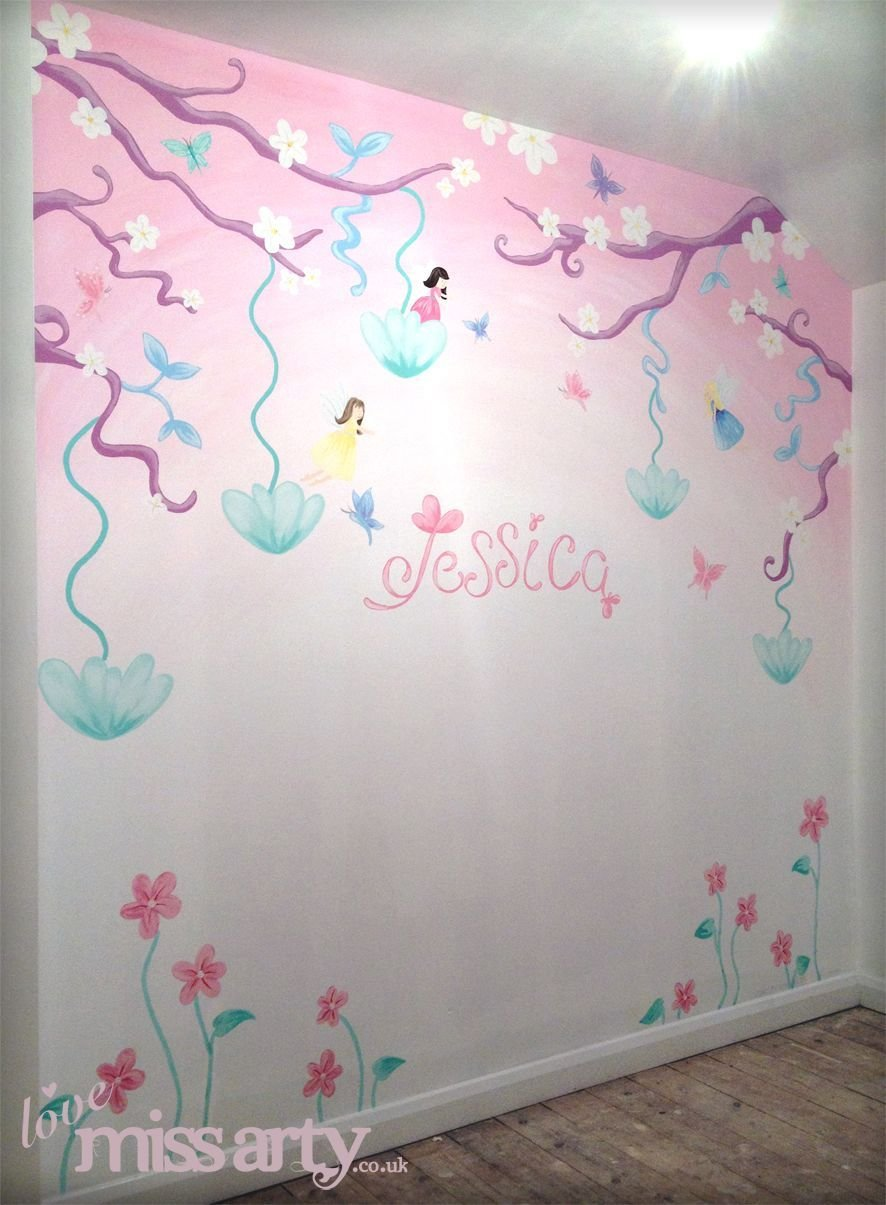 Best Fairy And Butterfly Wall Mural Designed And Hand Painted With Pictures