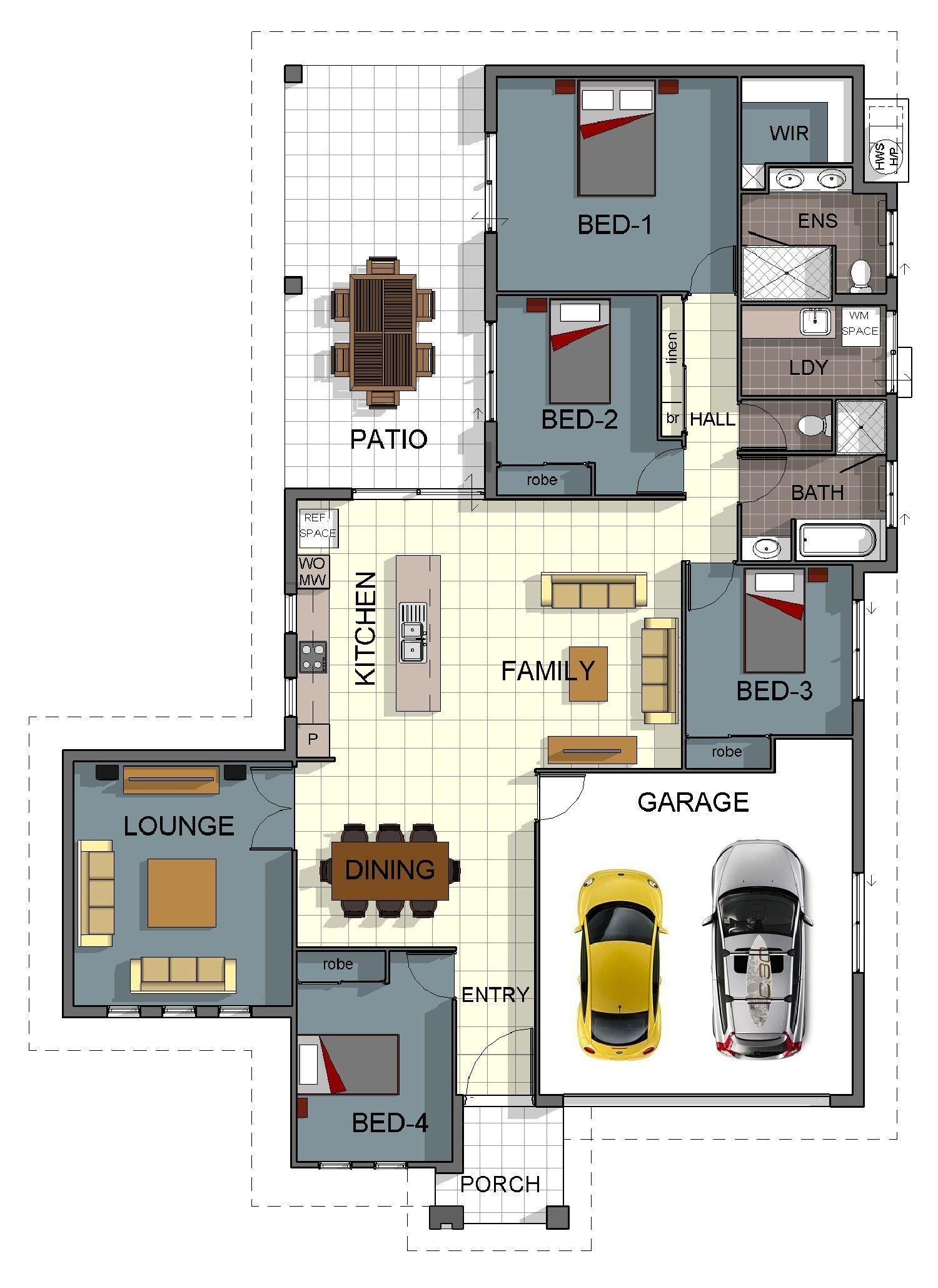 Best Single Storey 4 Bedroom House Floorplan With Additional Rumpus Room And Double Garage House With Pictures