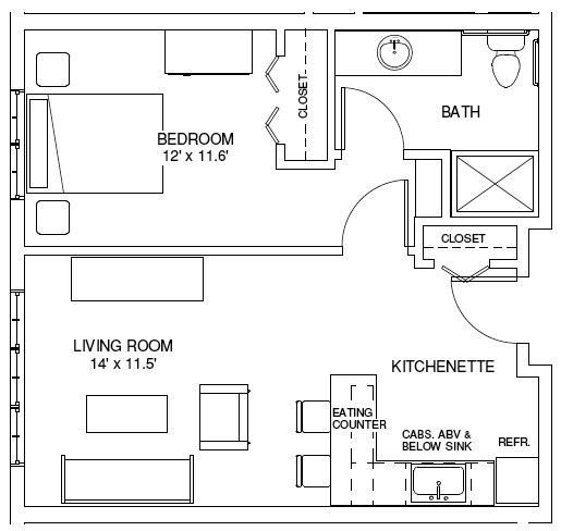 Best One Bedroom House Plans One Bedroom Floorplans Find With Pictures Original 1024 x 768