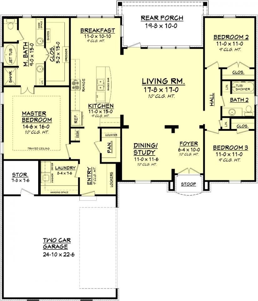 Best 656363 3 Bedroom 2 Bath Country French House Plans Floor Plans Home Plans Plan It At With Pictures