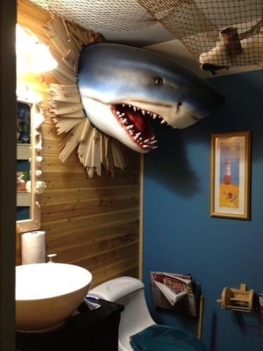 Best Haha Zach Would Love This Shark Head Wall Mount Shark With Pictures