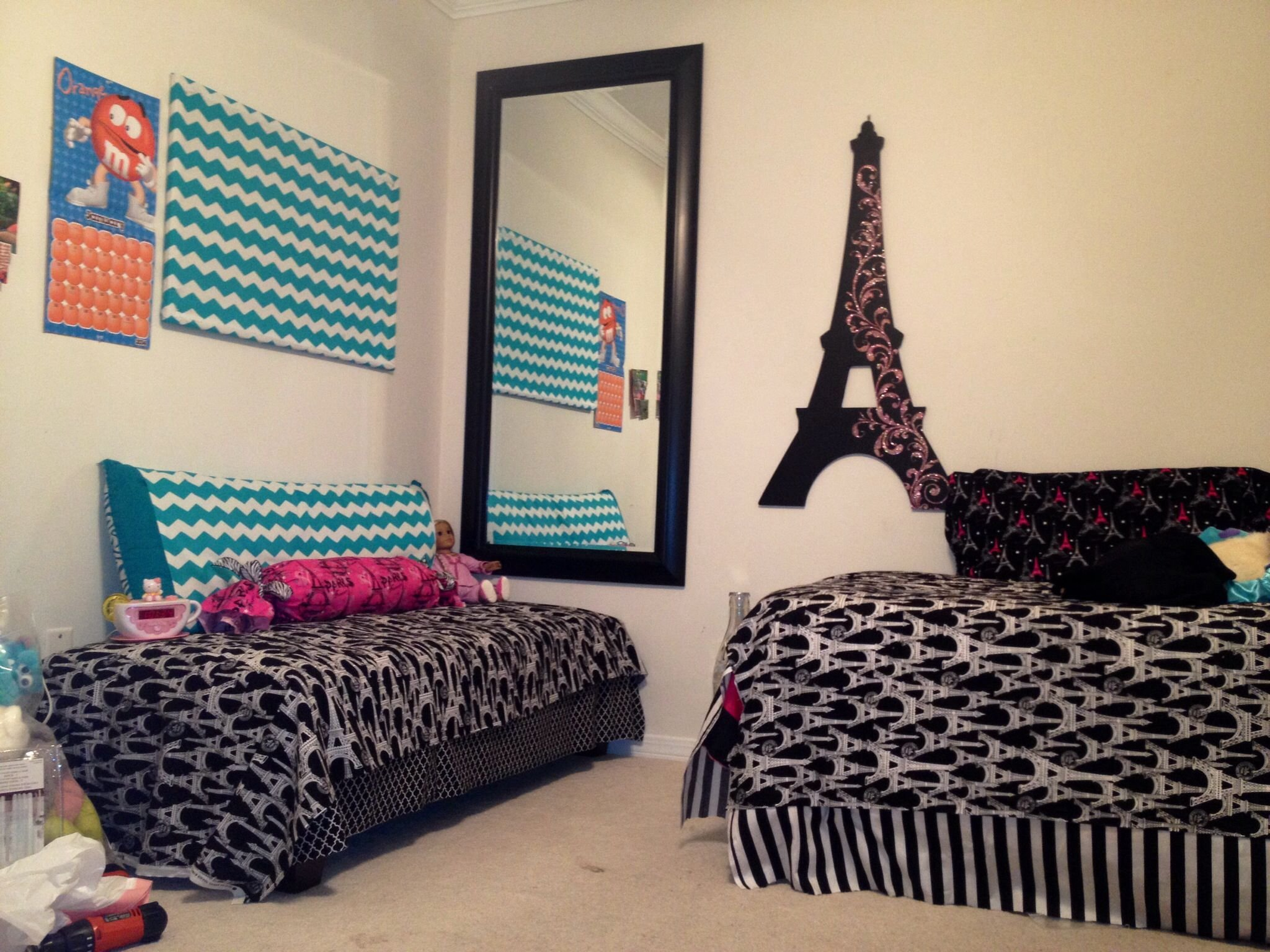 Best 13 Year Old Girls Room Make Over Paris Eiffel Tower Theme With Pictures