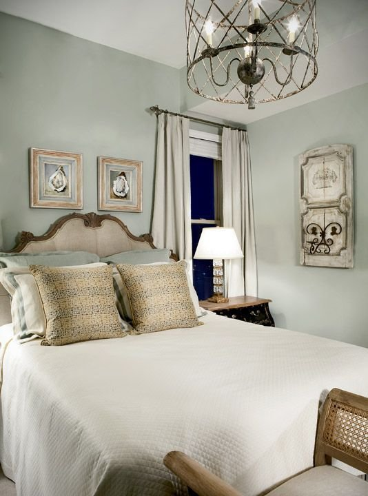 Best The Guest Room With Walls Painted A Silver Sage Color And With Pictures