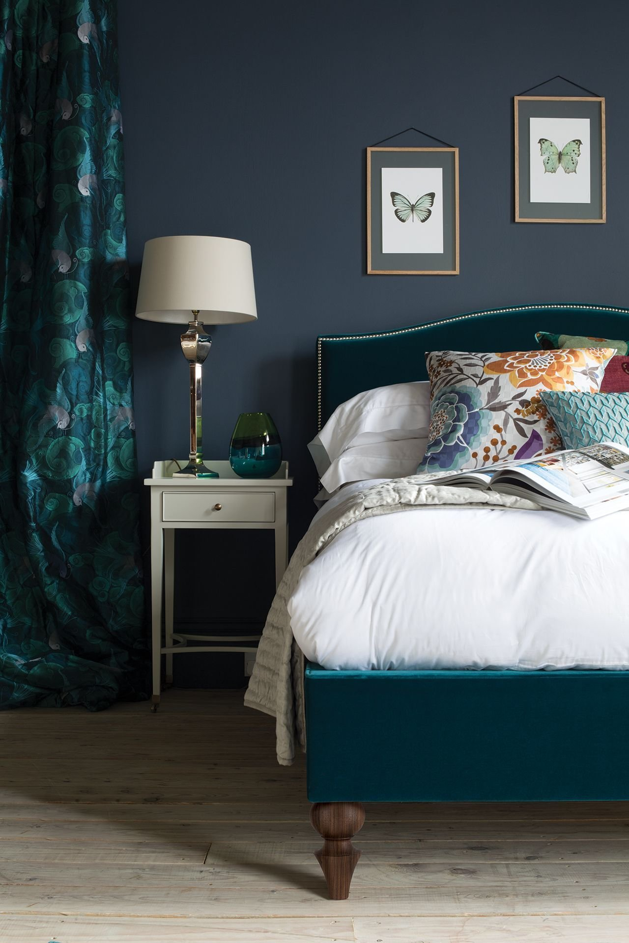 Best Teal And Dark Grey The Richmond Bed By And So To Bed In With Pictures
