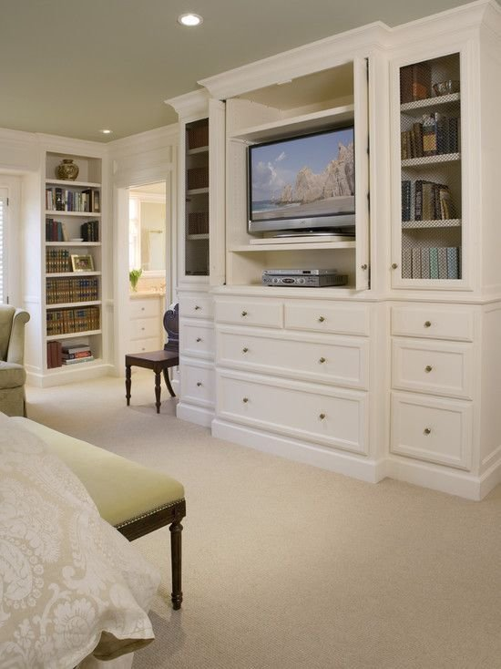 Best Love This Idea Built Ins To Hide The Tv In The Bedroom Plus The Shelving Storage For Dvds Etc With Pictures