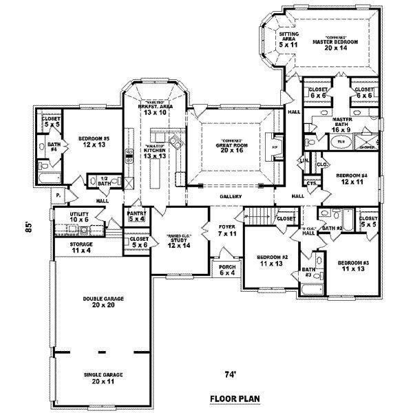 Best Big 5 Bedroom House Plans Feet 5 Bedrooms 4 Batrooms 3 Parking Space On 1 Levels With Pictures