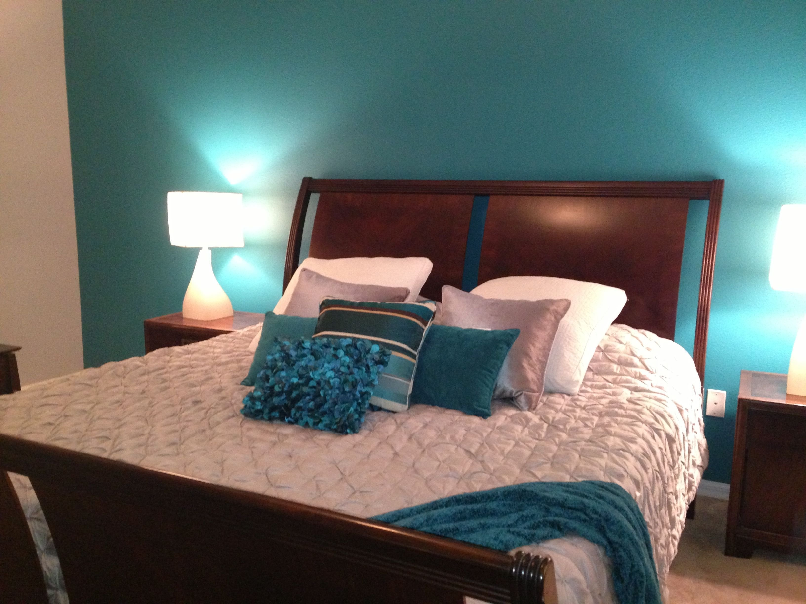 Best My Master Bedroom Teal And Grey My Rooms Bedroom With Pictures