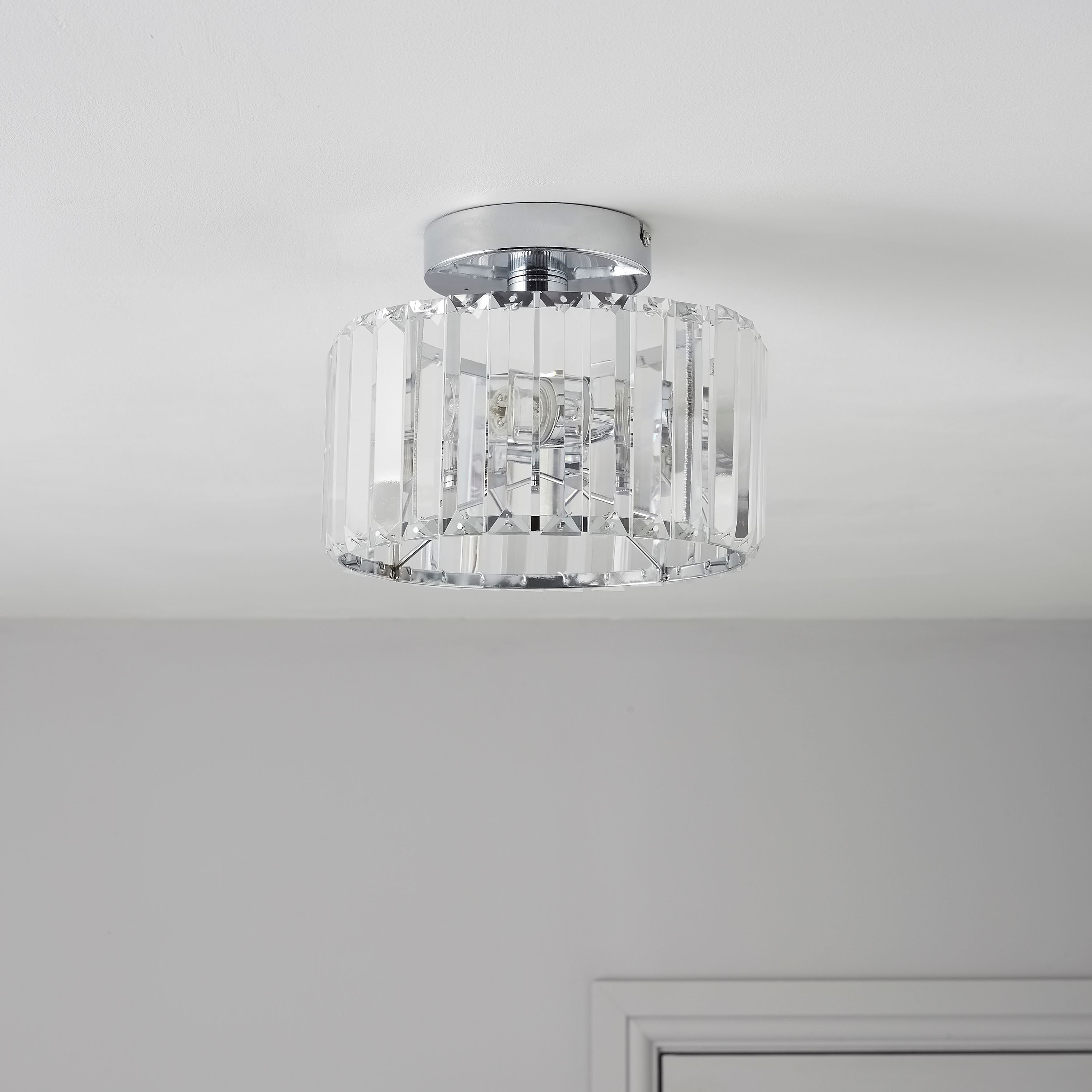 Best Colours Pereti 2 Flush Ceiling Light Departments Diy At B Q House Stuff With Pictures