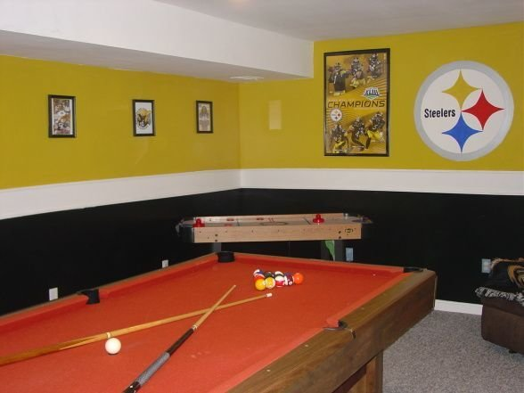 Best Steelers Bedroom Painting Ideas Steelers Themed Gameroom With Pictures
