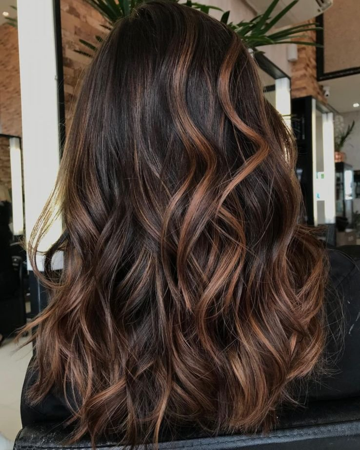 Free 60 Hairstyles Featuring Dark Brown Hair With Highlights In Wallpaper