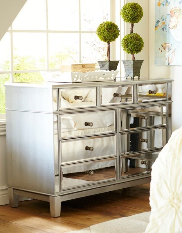 Best Hayworth Mirrored Silver Dresser For The Home Mirrored With Pictures