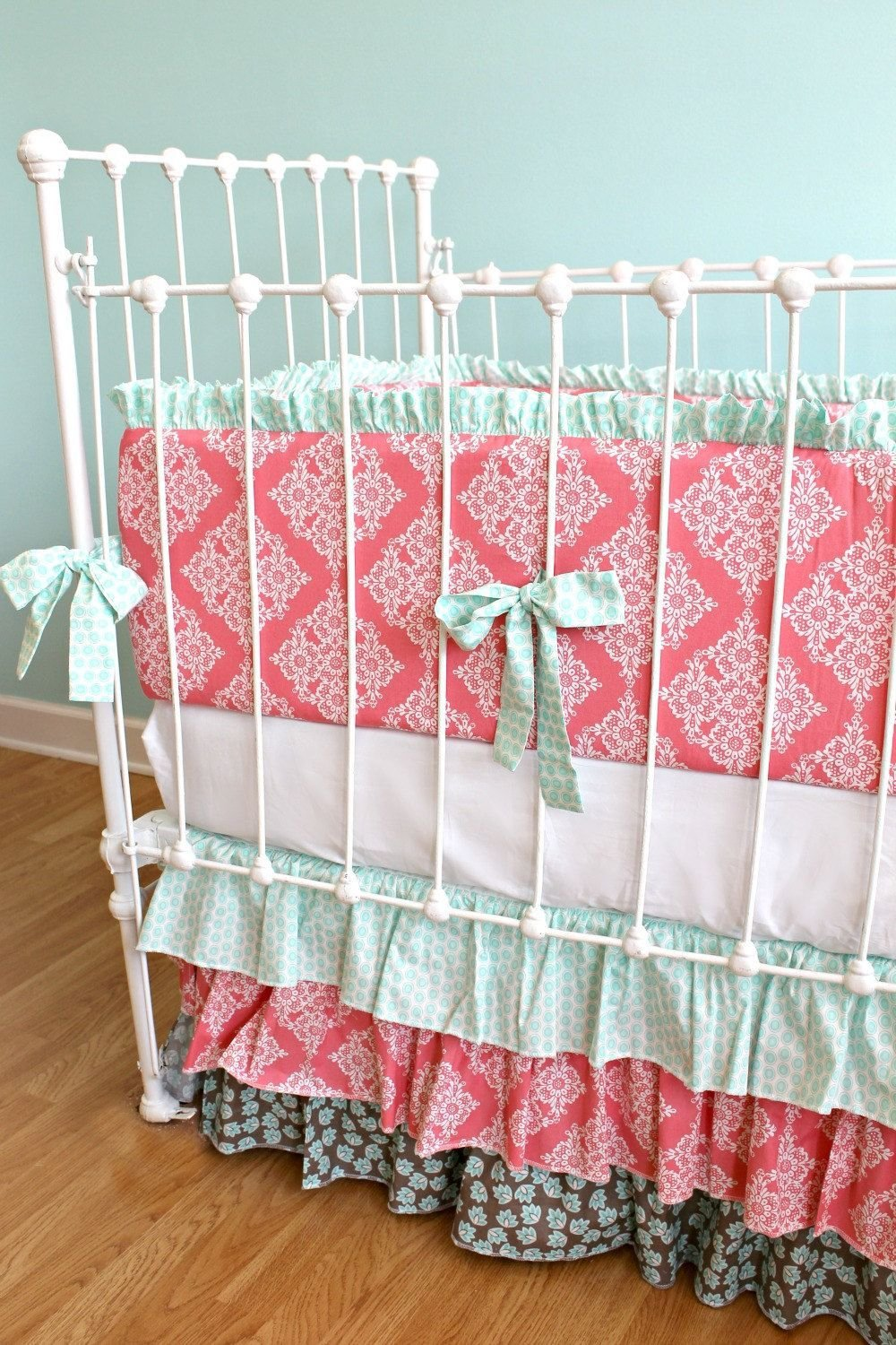 Best Coral And Seafoam Green Bedding Gorg Oh Baby Baby With Pictures