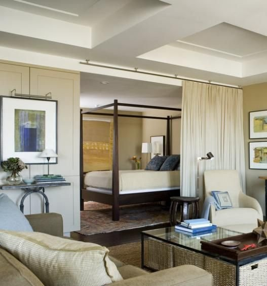 Best Room Ideas It's Possible To Use Curtains To Section Off A Bedroom From A Living Room Ideal In With Pictures