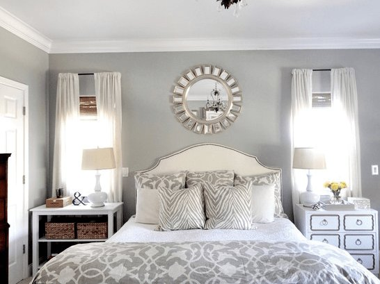 Best Romantic Master Bedroom Decorating Ideas Blue Grey White Interior Design Ideas Window With Pictures