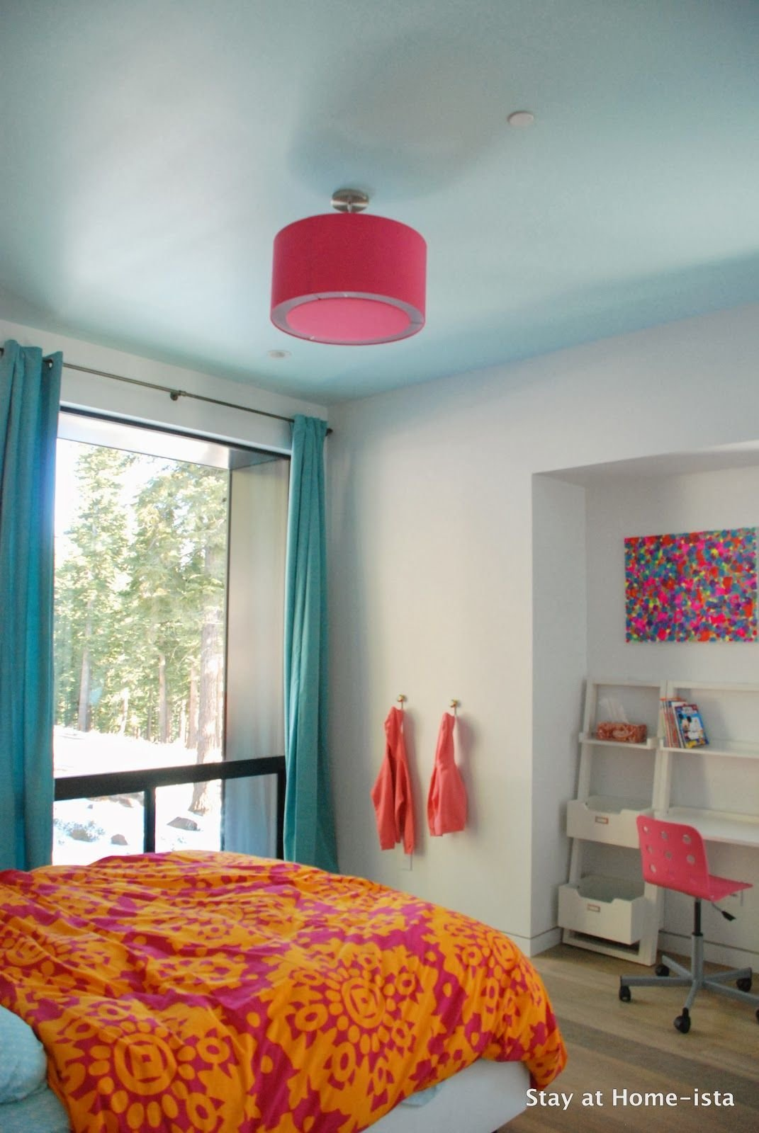 Best Bright Pink Orange And Teal In A Modern House Makes The Perfect Room For A Growing Girl My With Pictures