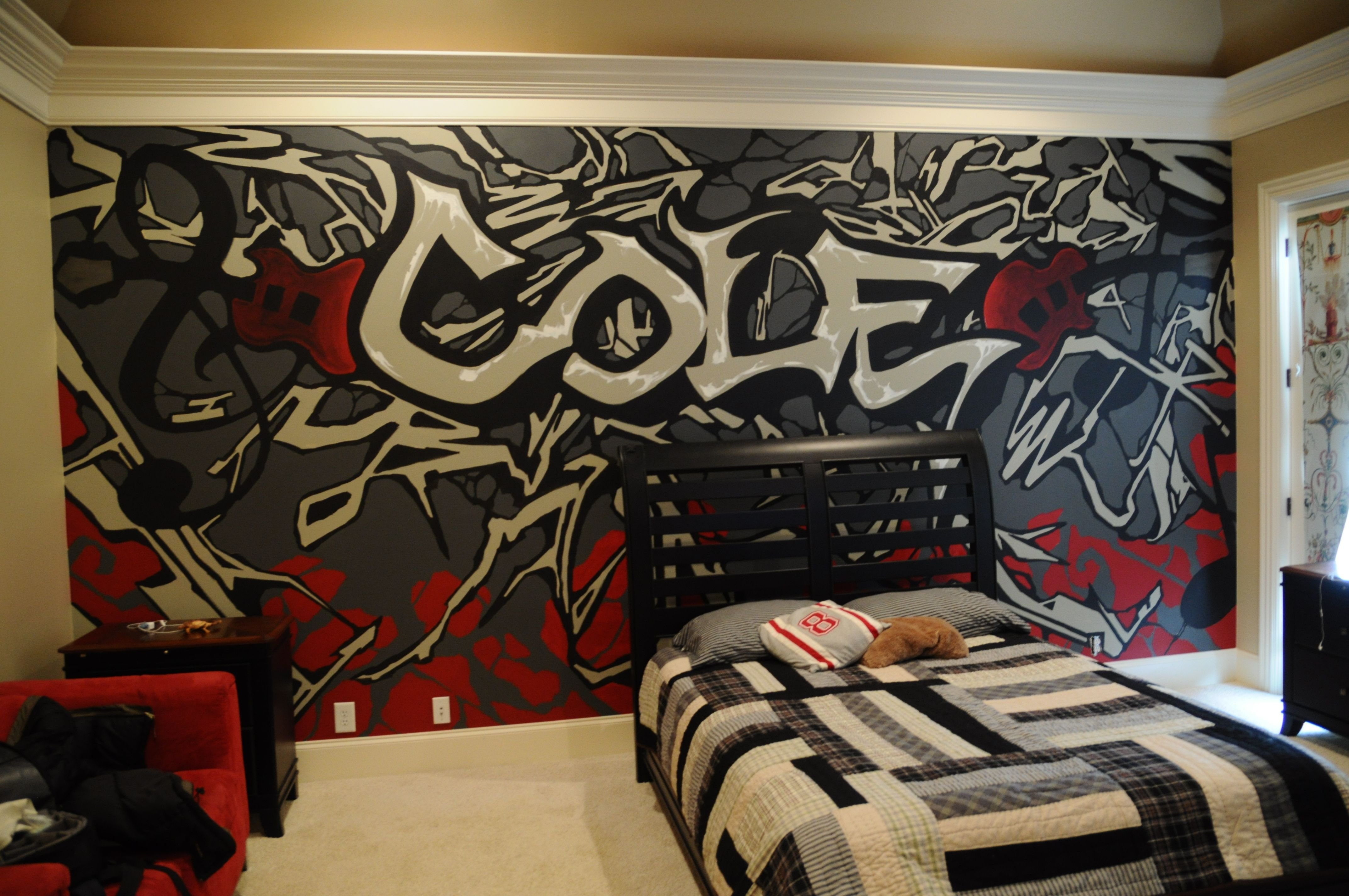 Best A Mural That I Did For A Teenage Boy S Room My Artwork In 2019 T**N Bedroom T**N Boy Rooms With Pictures