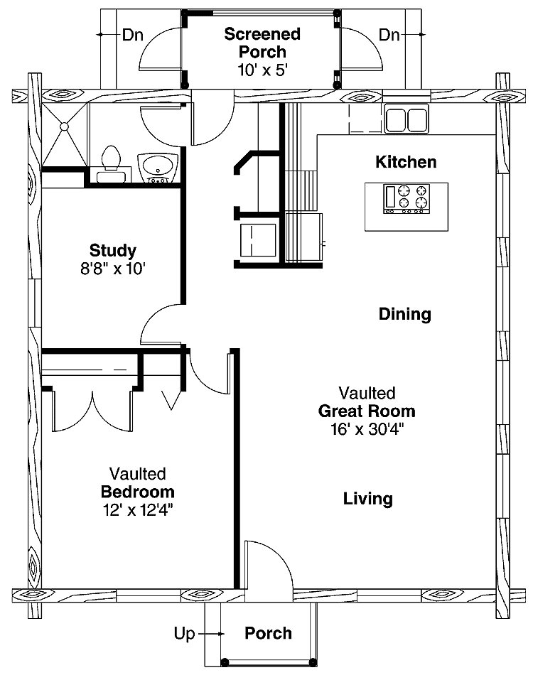 Best Simple One Bedroom House Plans Home Plans Homepw00769 With Pictures