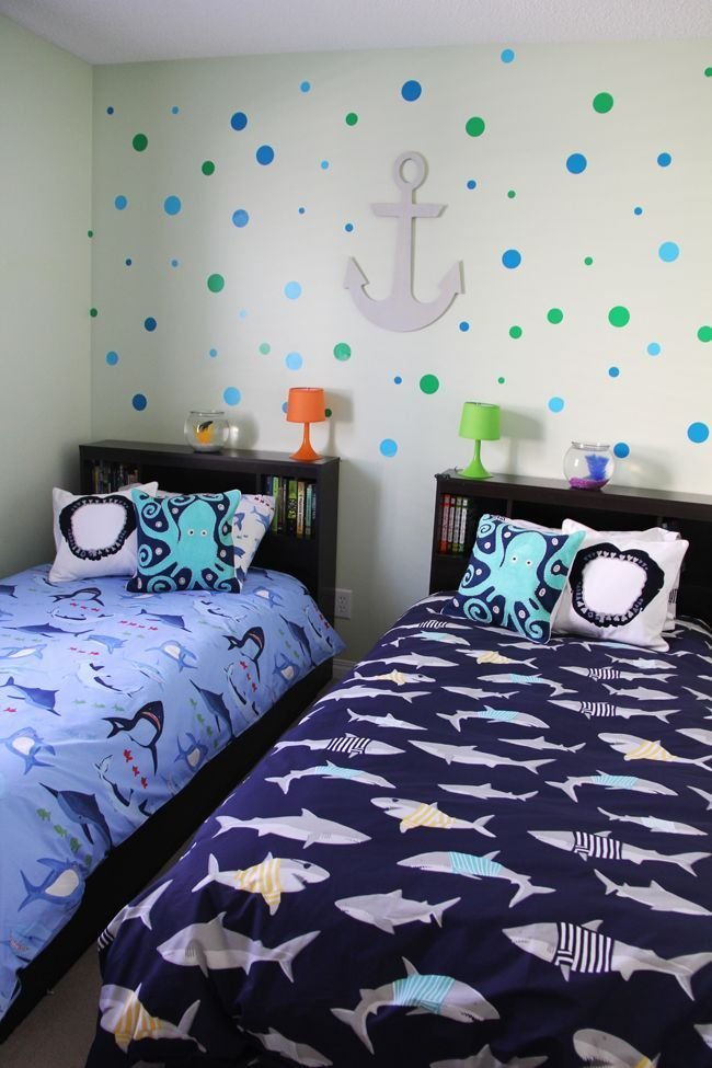 Best Boys Shark Theme Shared Bedroom A Pretty Life In The With Pictures