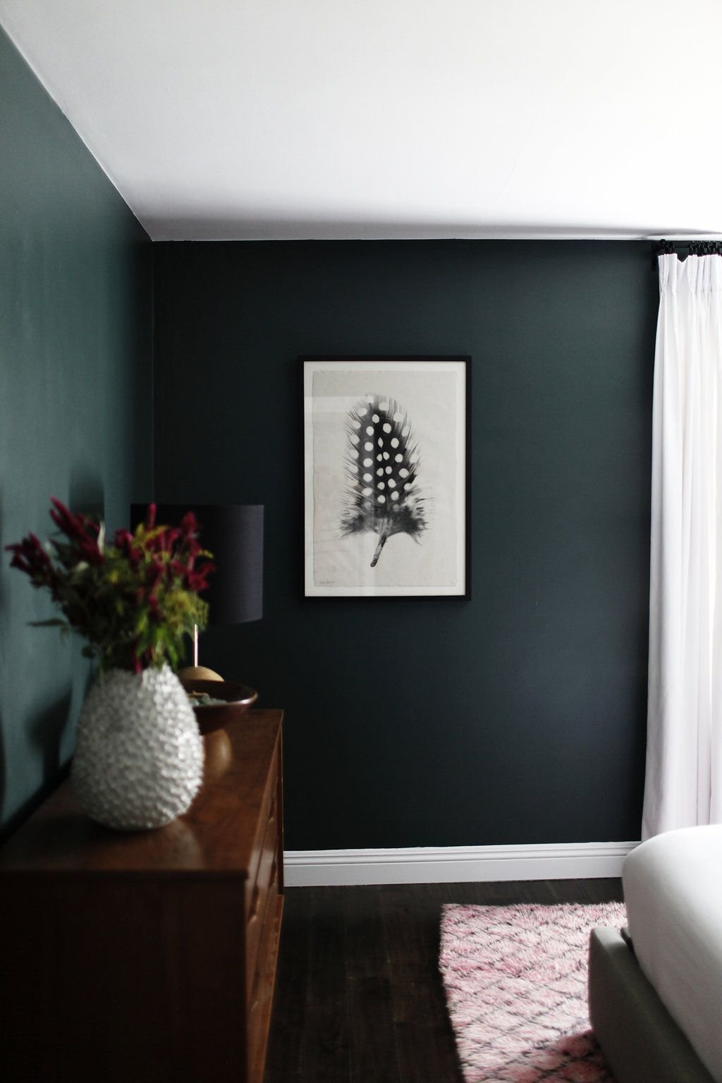 Best Dark Green Walls In Minimalist Bedroom Spaces And Gems With Pictures