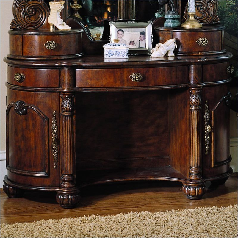 Best Pulaski Edwardian Wood Makeup Vanity Table For The Home With Pictures