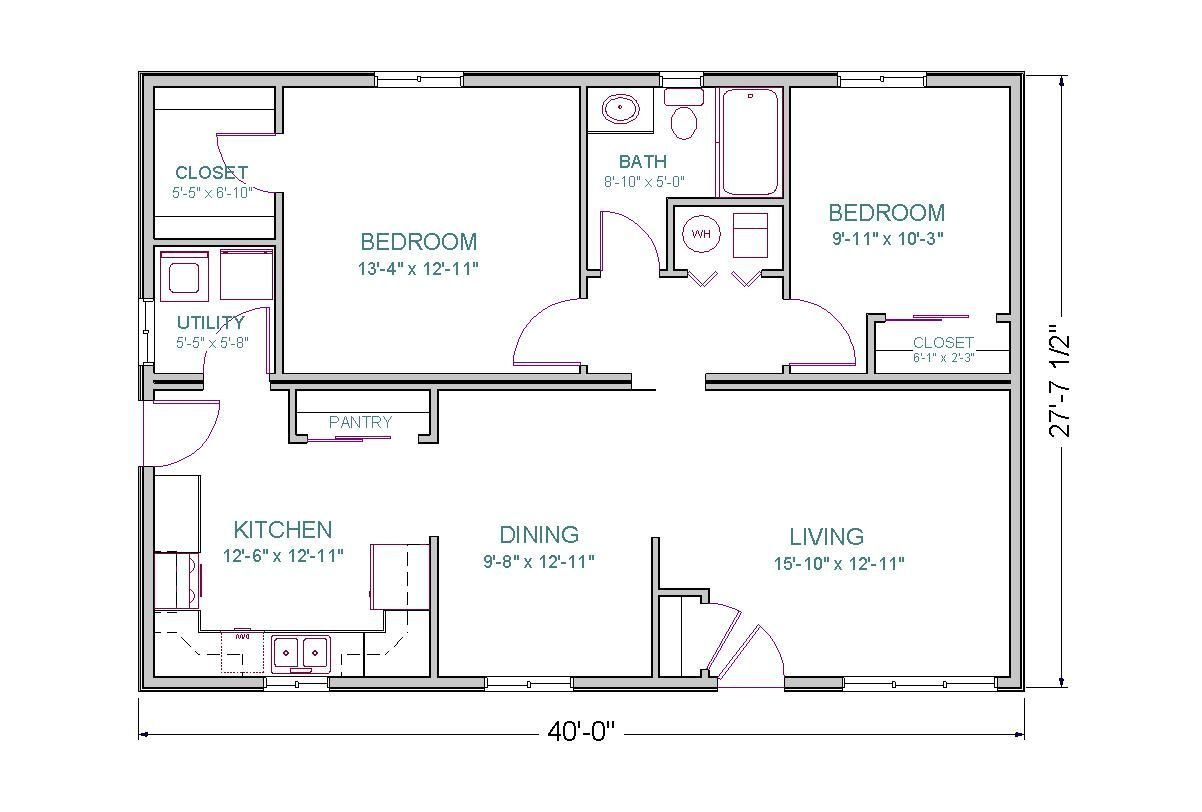 Best 1500 Sq Ft House Plans Open Floor Plan 2 Bedrooms The With Pictures