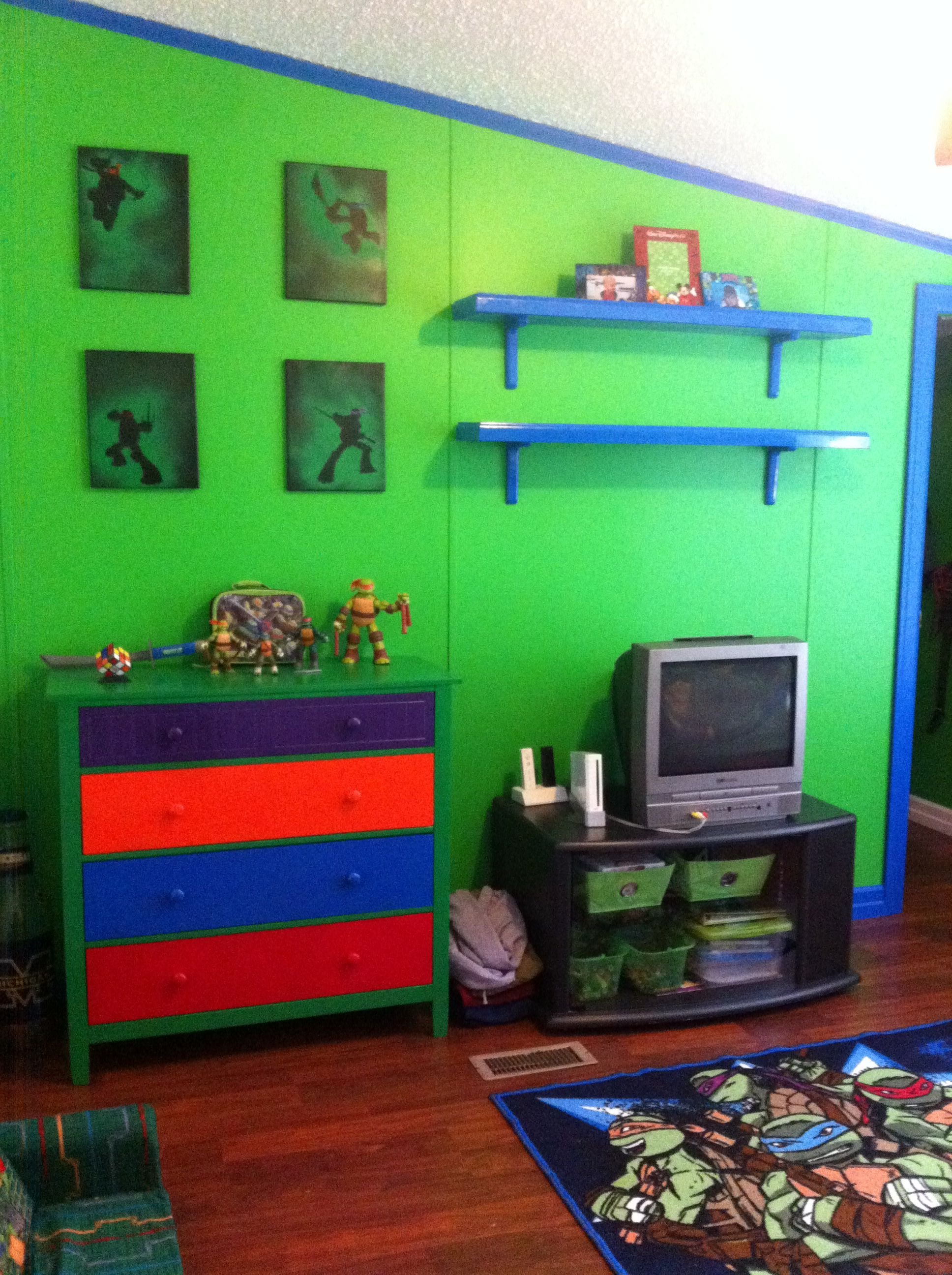 Best Ninja Turtle Room Finally Finished With Spray Painted With Pictures