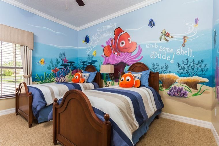 Best Kids Can Just Keep Swimming With Their Favorite Finding Nemo Pals In This Twin Bedroom With Pictures