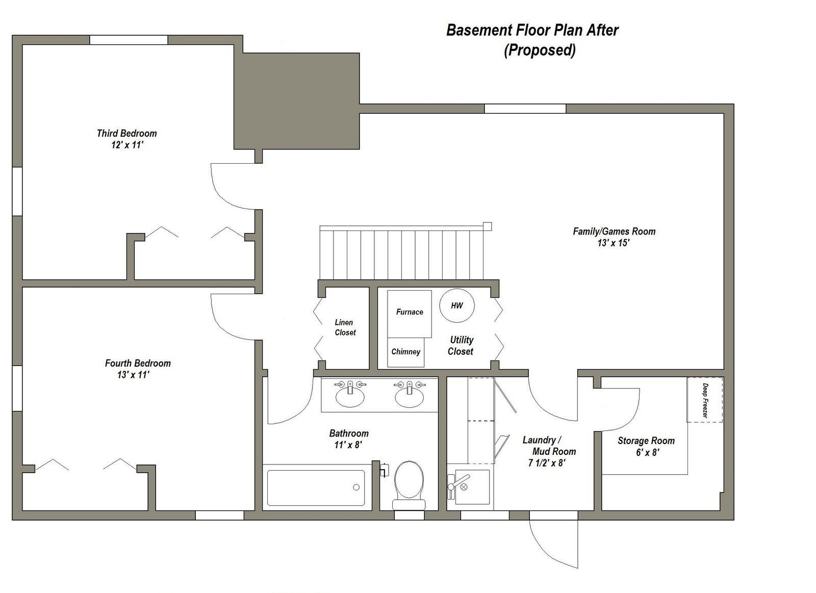 Best Pin By Krystle Rupert On Basement Basement House Plans With Pictures