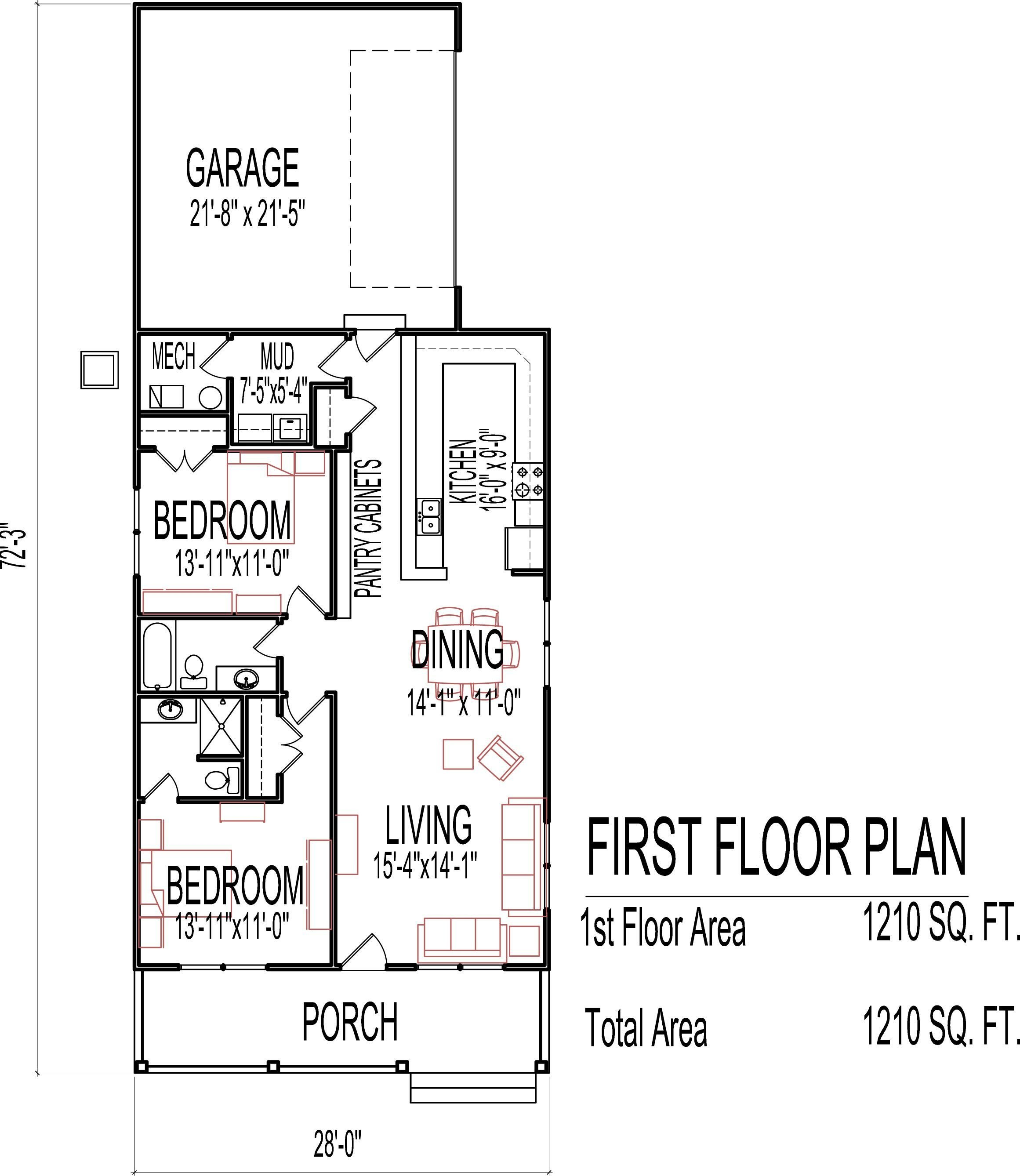 Best Small Low Cost Economical 2 Bedroom 2 Bath 1200 Sq Ft With Pictures