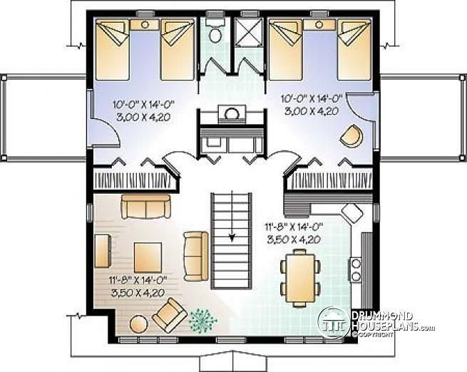 Best 2Nd Level Garage Apartment Plan 2 Bedrooms With Jack And With Pictures