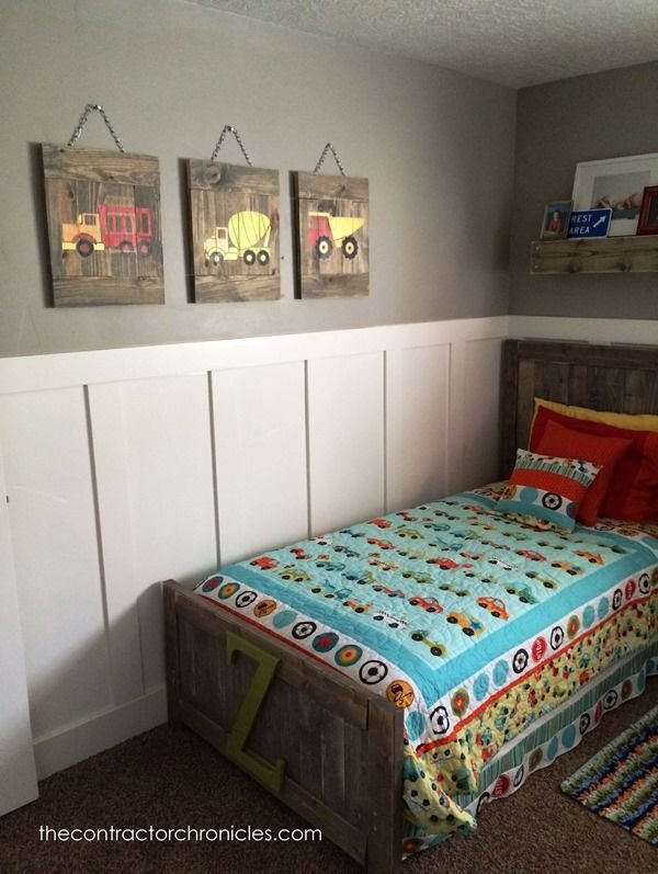 Best Boys Rustic Transportation Bedroom The Contractor With Pictures