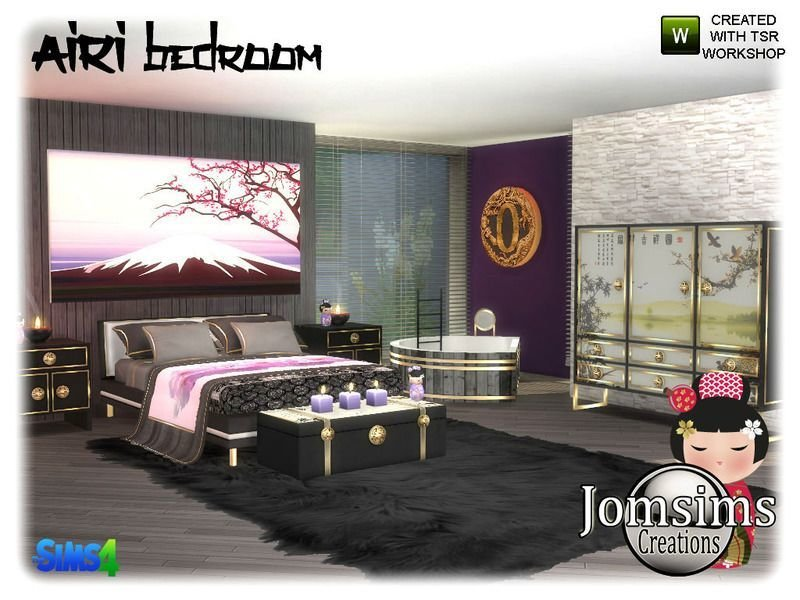 Best Inspiration Asia Here Airi Bedroom Sims 4 Found In Tsr With Pictures