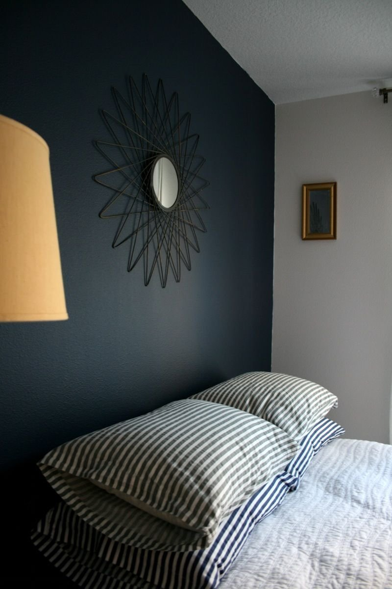 Best Navy And Grey Painted Room A Deep Bold Navy Blue Paint With Pictures